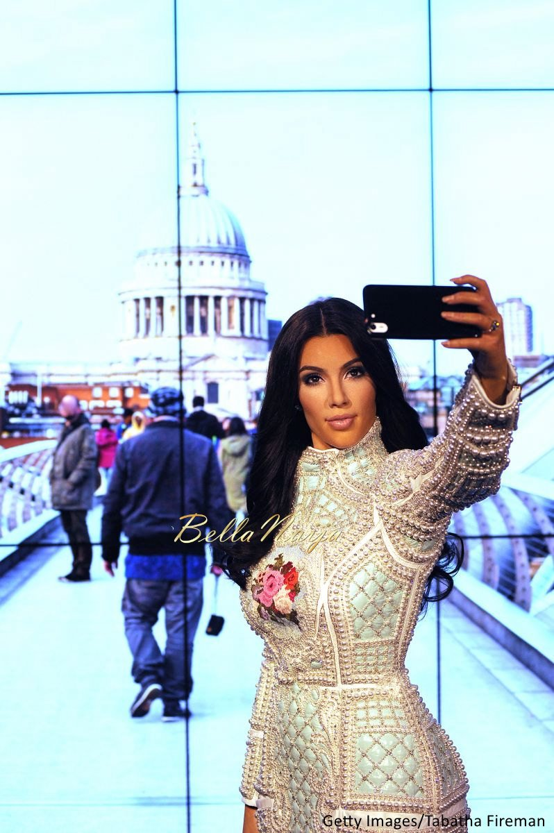 Kim Kardashian West Madam Tussauds Wax Selfie Figure - Bellanaija - July2015004