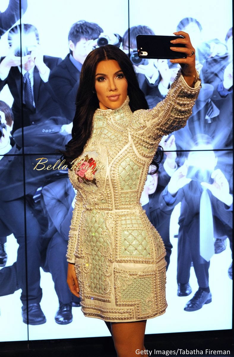 Kim Kardashian West Madam Tussauds Wax Selfie Figure - Bellanaija - July2015007