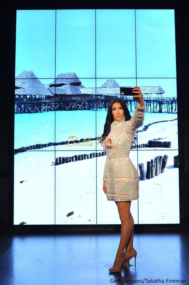 Kim Kardashian West Madam Tussauds Wax Selfie Figure - Bellanaija - July2015008