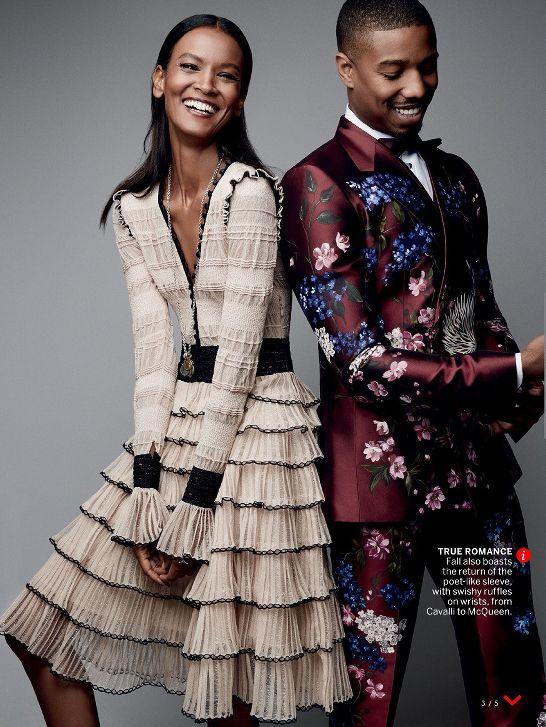 Liya Kebede and Michael B. Jordan for Vogue August 2015 - BellaNaija - July2015