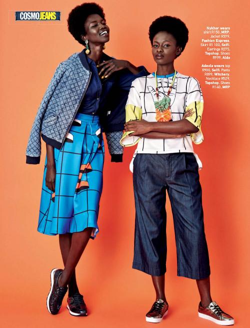 Nykhor Paul & Adeola Ariyo for Cosmopolitan Magazine South Africa - BellaNaija - July2015001