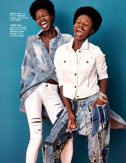 Nykhor Paul & Adeola Ariyo for Cosmopolitan Magazine South Africa - BellaNaija - July2015002