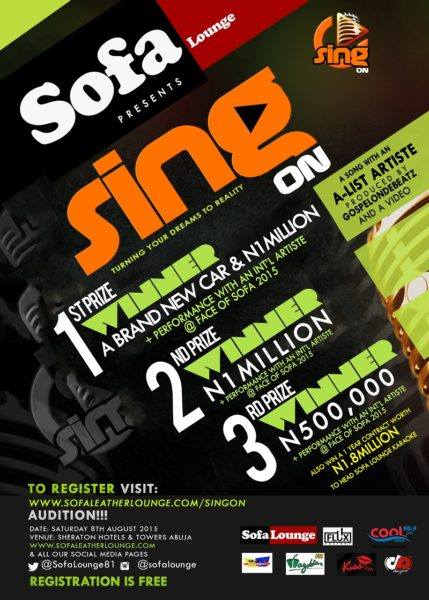 SING ON FLYER new