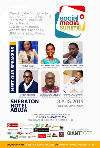 Social Media Summit Flyer Design - BellaNaija - July - 2015