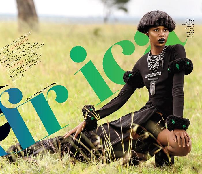 Tshepiso Ralelathe for ESSENCE Magazine's Global Issue - BellaNaija - July2015