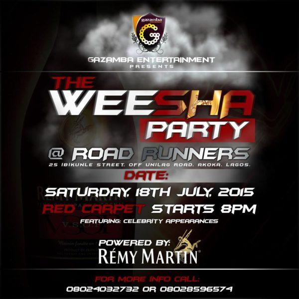 Weesha Party Flyer