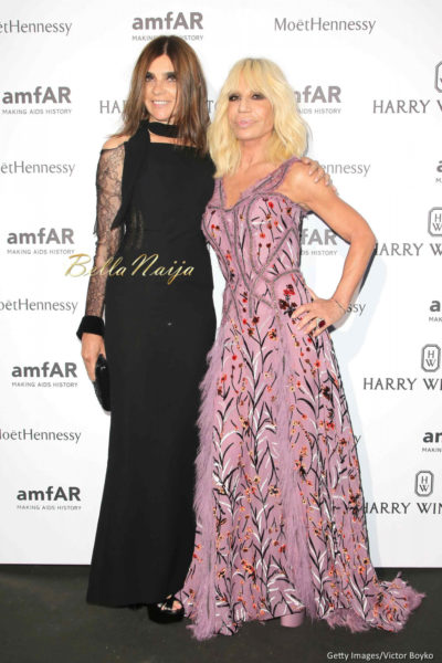 Carine Roitfeld & Donatella Versace