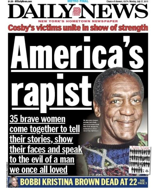 New York Daily News Cover: Too Controversial? New York Daily News' Cover With Bill