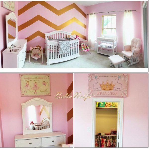 pink and gold baby girl room
