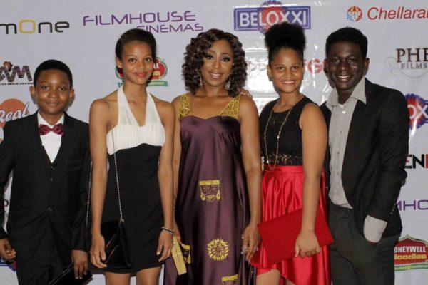 Dakore Akande,Cassandra Rossman, Sunshine Rossman,  Kada Matthew &Christopher Ochinyabo