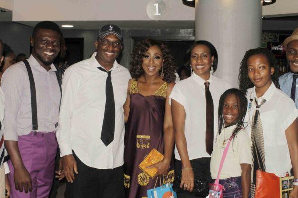 Dakore Akande, Kene Nkparu with wife & kids