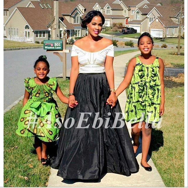 designer @shellsnaija & her daughters