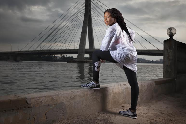Dolapo Oni for Nike in Genevieve Magazine - BellaNaija - August 201500