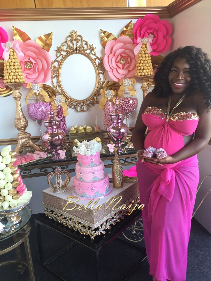 Dunnie O S Gorgeous Poolside Pink Amp Gold Baby Shower