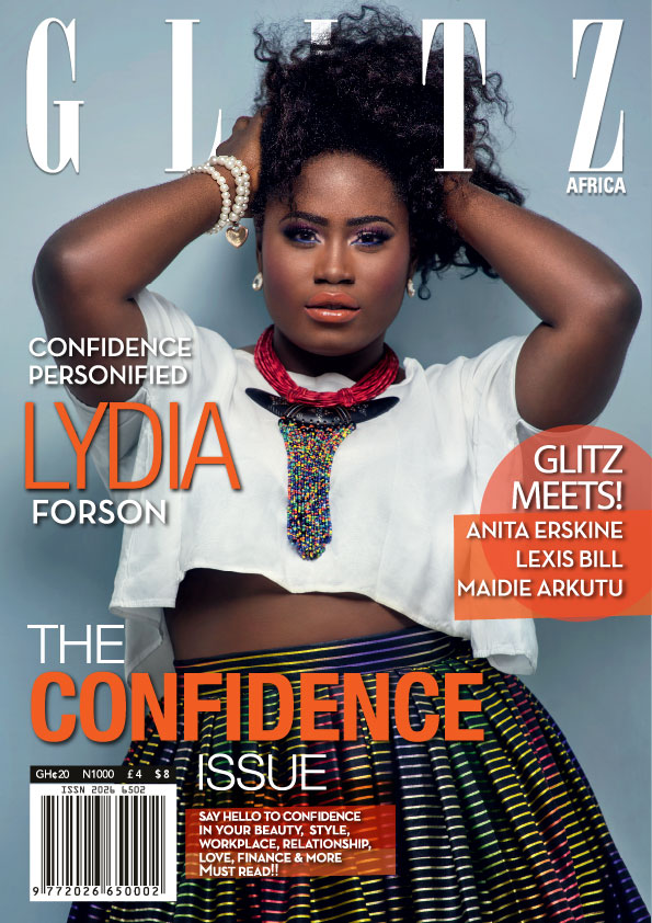 the confidence issue lydia forson covers glitz africa magazine s