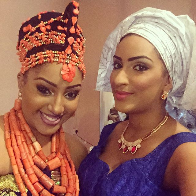 The bride, Jessica and Juliet Ibrahim