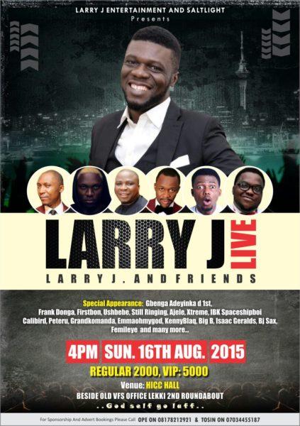 LARRY J LIVE 2015