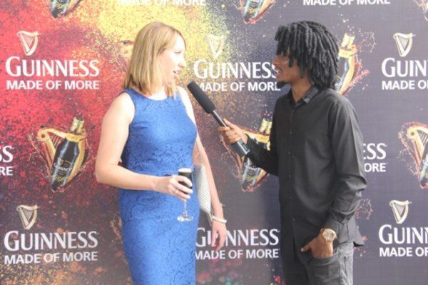LIZ ASHDOWN BEING INTERVIEWED BY EHIZ