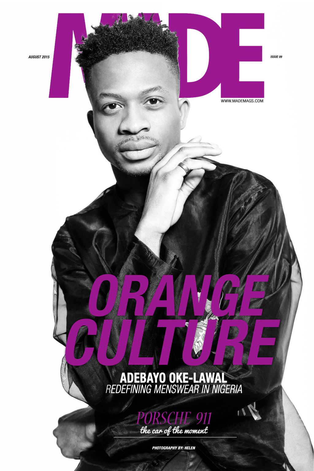 Orange Culture MADE Magazine Cover - BellaNaija - August 2015