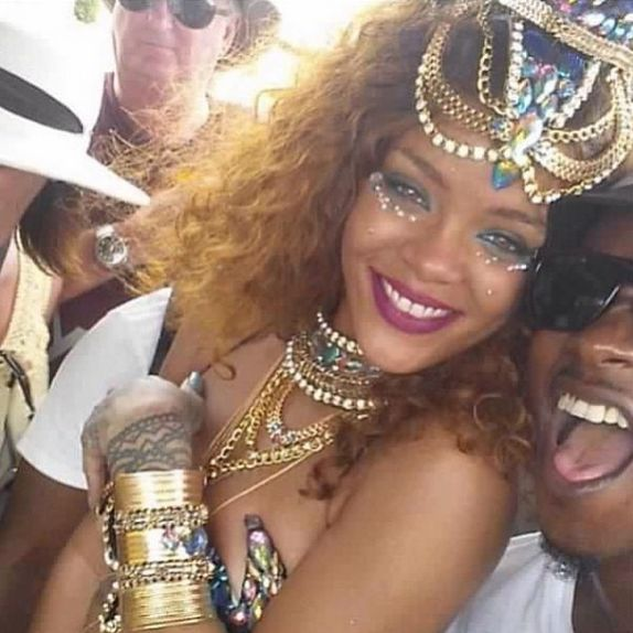 rihanna turns up at crop over festival in barbados