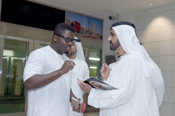 Sijibomi 'SujiMoto' Ogundele meets Emir of Dubai Mohammed bin Rashid Al Maktoum 1