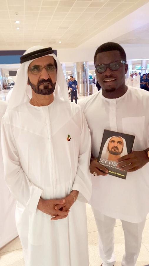 Sijibomi 'SujiMoto' Ogundele meets Emir of Dubai Mohammed bin Rashid Al Maktoum 4