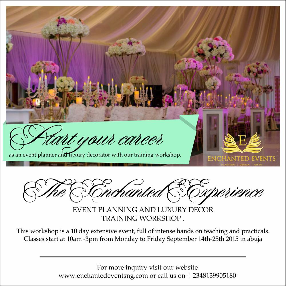 "Event Planning: Learn The Art Of Event Planning At ""The Enchanted"