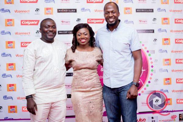 [L-R] Gbadesola Adenrele (Marketing Manager, Colgate), Tomilola Adenuga & Lanre Aina