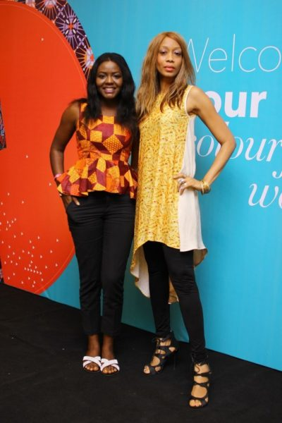 Ayotunde Odebunmi (Vlisco Marketing Coordinator) & Kiki Kamani