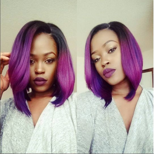 Bn Beauty Fun Amp Bold Learn How To Slay A Violet Bob Wig