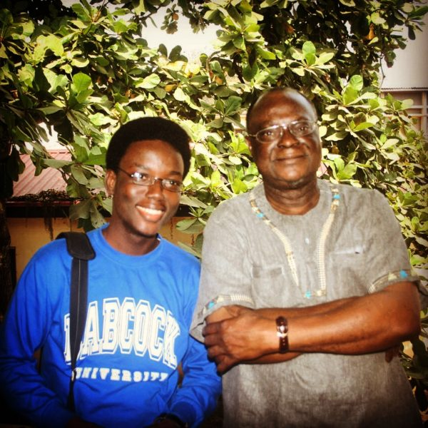 With Professor Femi Osofisan