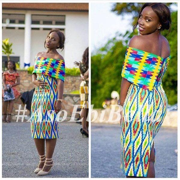 @msocran | dress by @janedamaris | fabric by @iheartfabricsgh