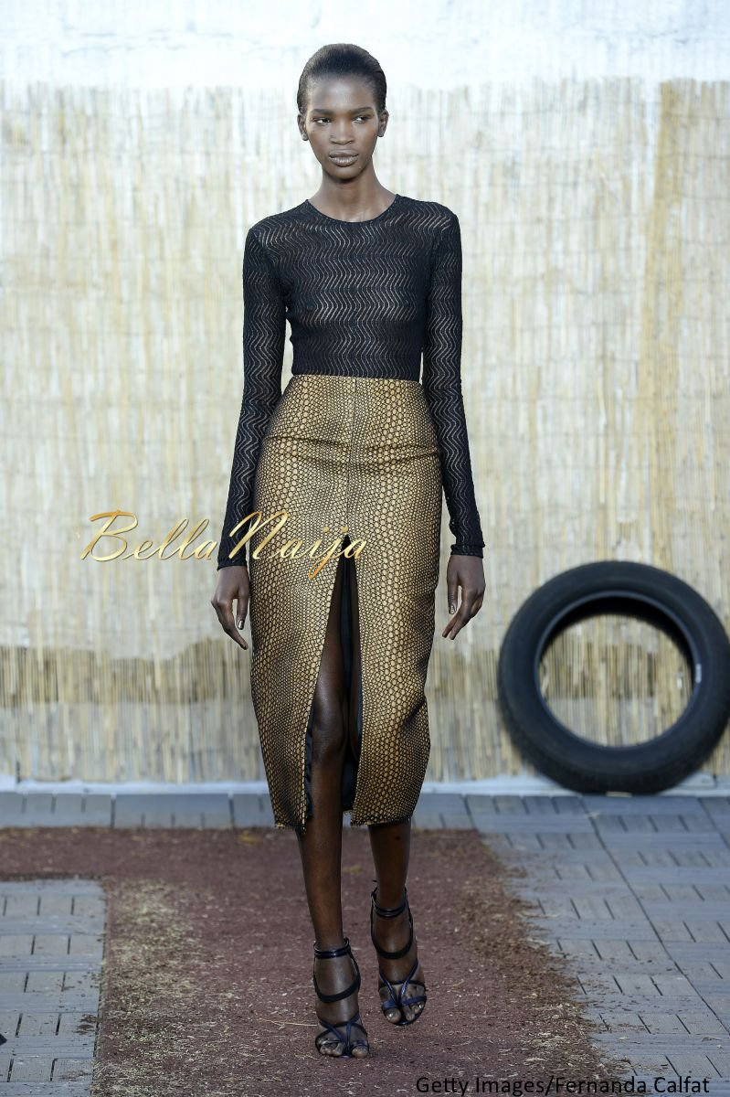 Aamito Stacie Lagum at New York Fashion Week 2015 - Bellanaija - September013