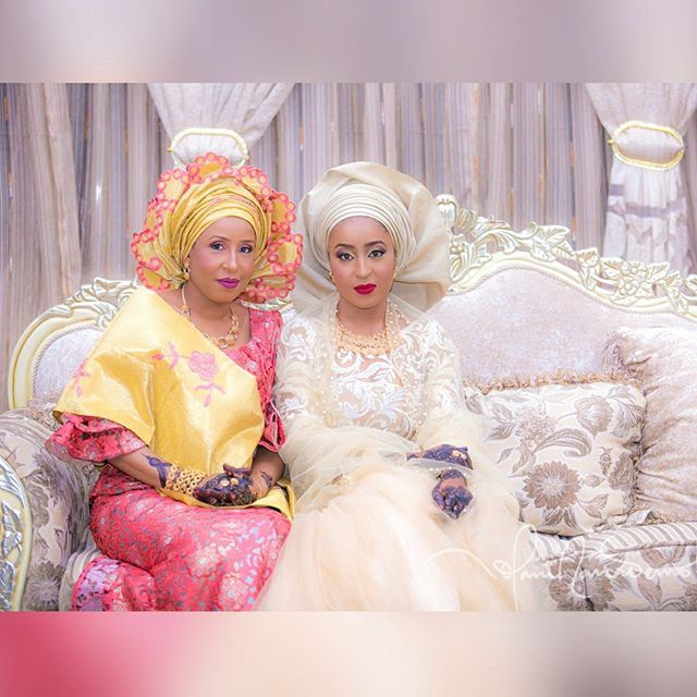 The Bride with her Mother, First Lady of Jigawa State