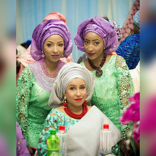 The bride's Mum and Sisters