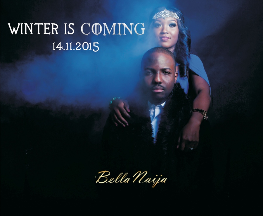 BellaNaija Weddings pre-wedding shoot by Demilade Roberts.Winter is Coming - cover