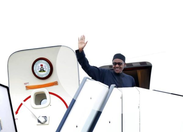 Buhari on his way to France