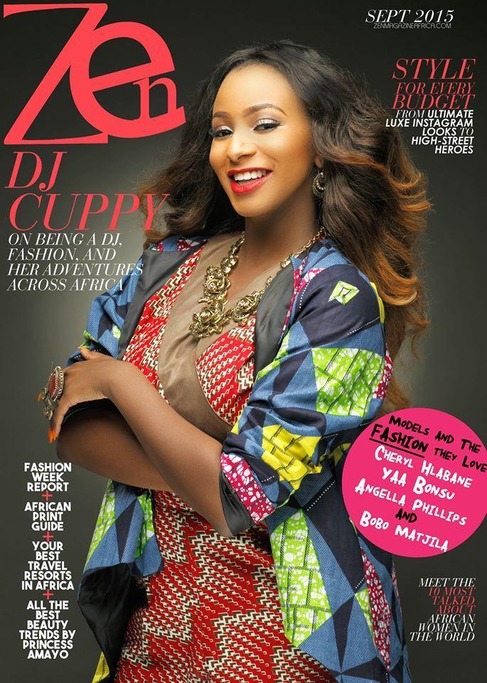 DJ Cuppy for Zen Magazine's September 2015 Issue