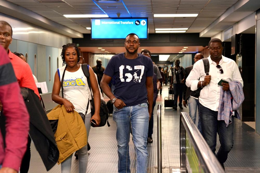 Iyabo Ojo, Odunade Adekola, Kunle Afolayan, Omotola and others arrive in South Africa for the 2015 AMAA