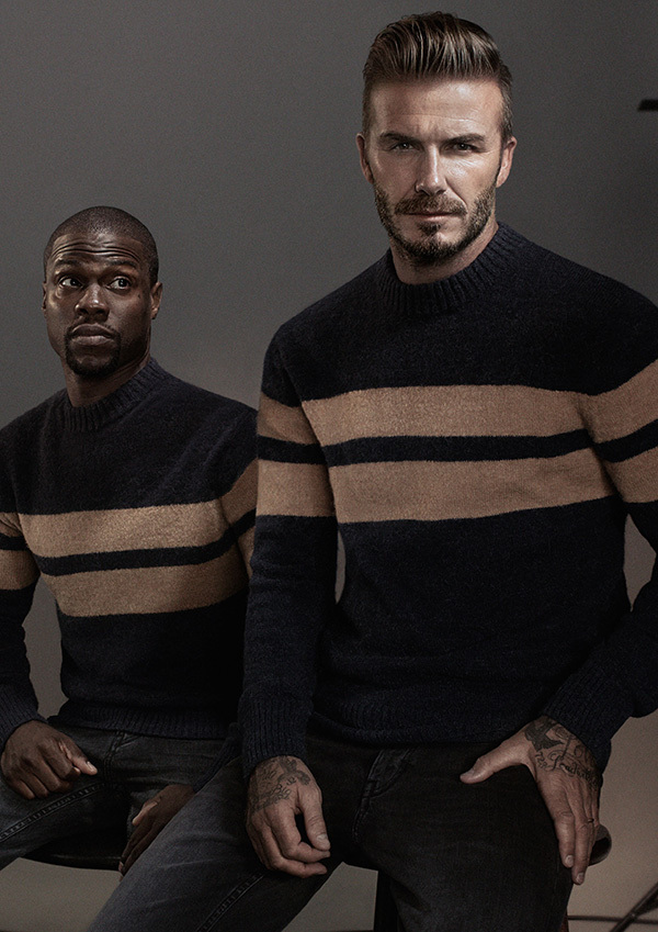 David Beckham and Kevin Hart in H&M Campaign for Modern Essentials - BellanNaija - September 2015