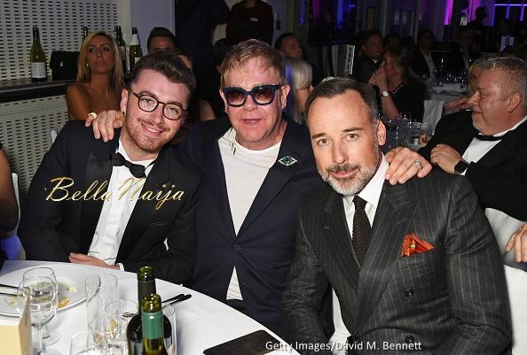 Sam Smith, Sir Elton John and David Furnish