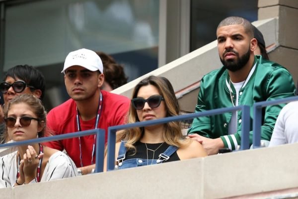 NEW YORK, NY - SEPTEMBER 11: Rapper Drake attends the Women's Singles Semifinals match between Roberta Vinci of Italy and Serena Williams of the United States on Day Twelve of the 2015 US Open at the USTA Billie Jean King National Tennis Center on September 11, 2015 in the Flushing neighborhood of the Queens borough of New York City. (Photo by Matthew Stockman/Getty Images)