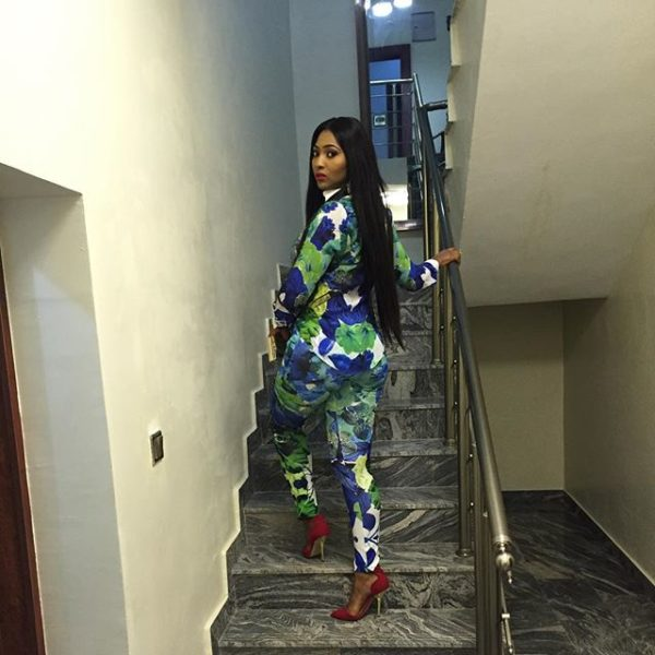 Lilian Esoro on her way to the Show