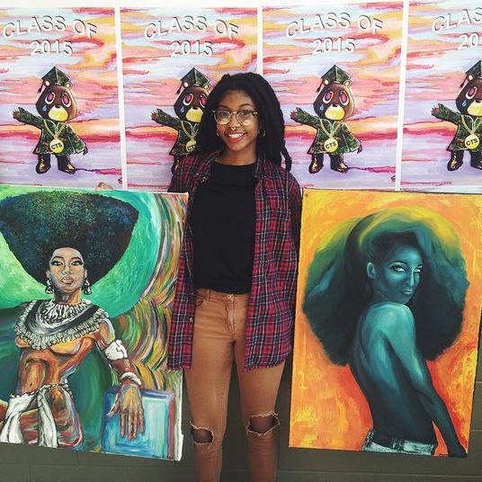 Kyemah was voted the best dressed and most artistic by her class mates