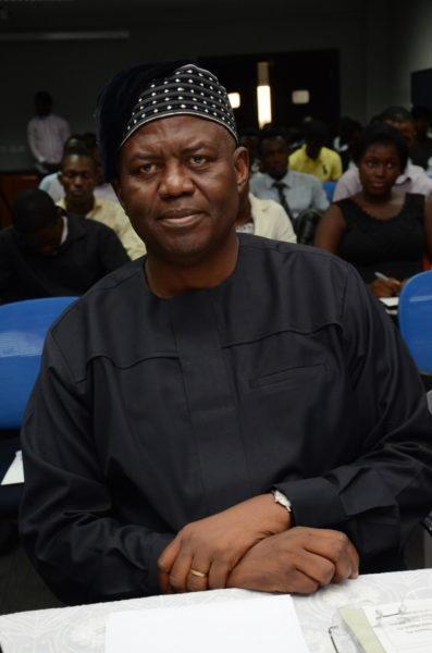Member of the board of judges - Sir Demola Aladekomo