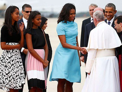 Michelle Obama Meets Pope 2