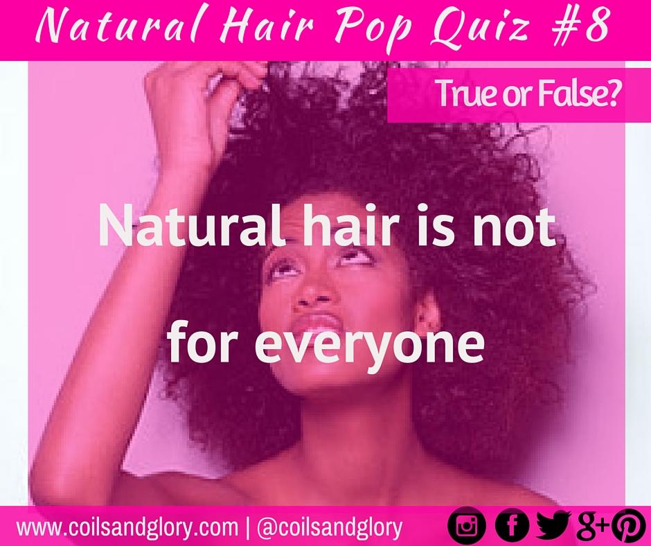 Natural Hair Pop Quiz