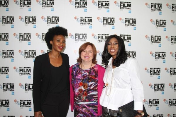 Nse Ikpe-Etim; Clare Stewart, Festival Director, BFI London Film Festival; Mo Abudu, Executive Producer - Fifty