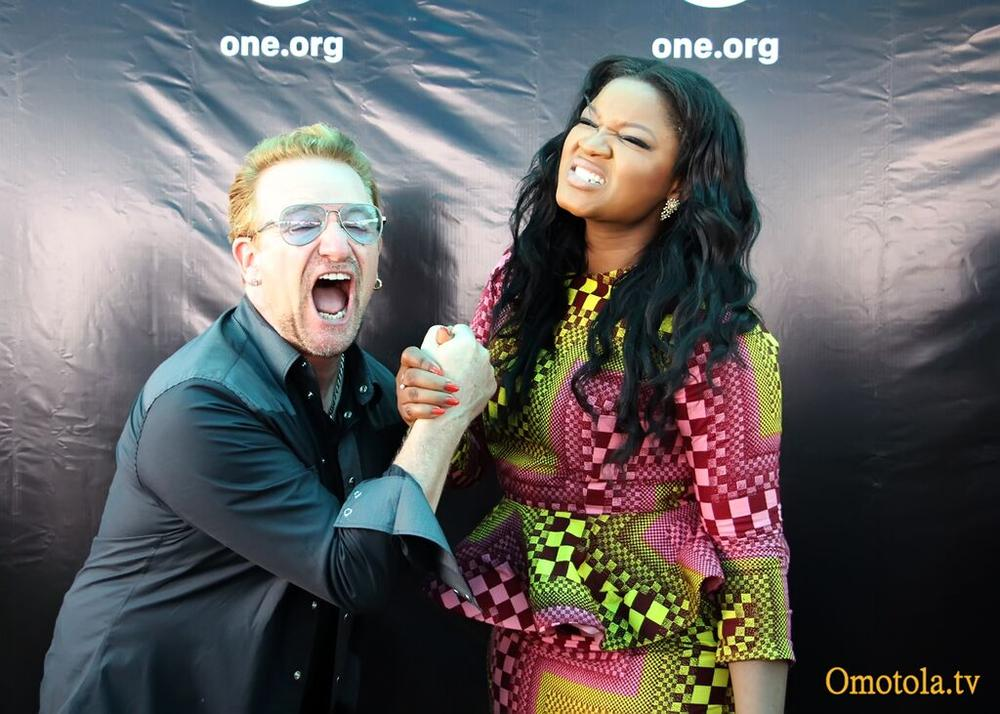 Omotola & Bono of U2
