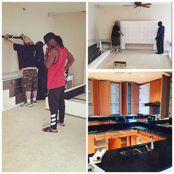 Paul Okoye setting up in his condo